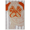 Patch-Collection: Shonibares pug dog Nr. 1 (Fassung orange), Leinwandobjekt