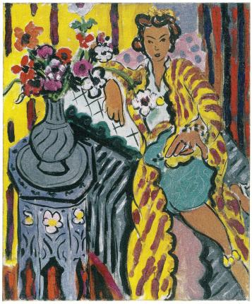 Matisse - Odalisque with Yellow Persian Robe and Anemones